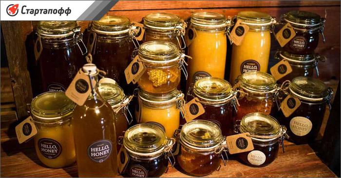 Мед расфасованный в разную тару